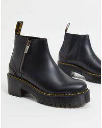 Черные Ботинки Челси На Каблуке С Молниями -черный Dr. Martens, цвет: Black