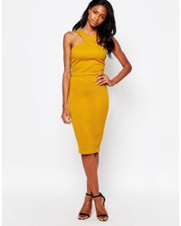 AX Paris Yellow X Paris Quilted Two Piece Top And Midi Skirt Set