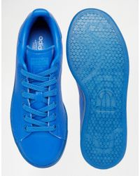 Adidas Originals - Originals Stan Super Colour Blue Trainers - Lyst