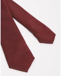 ASOS - Purple Tie In Burgundy for Men - Lyst