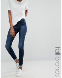 Noisy May Tall - Blue Extreme Lucy Super Skinny Jean - Lyst