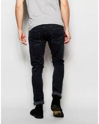 Nudie Jeans - Multicolor Long John Skinny Fit Grey On Grey Black Wash for Men - Lyst