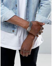 ASOS - Metallic Wing Bracelet In Silver for Men - Lyst