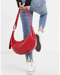 Bolso tote rojo con correa exclusivo Glamorous de color Red