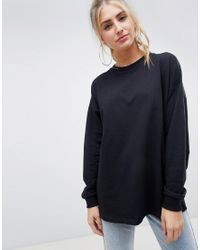 ASOS Black Oversized Slouchy Lightweight Sweatshirt