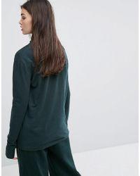 Ellesse Green Sweatshirt With High Half Zip And Sports Stripe Tracksuit