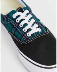 Zapatillas con diseño a cuadros escoceses en verde Era Vans de hombre de color Green