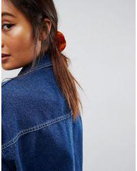 ASOS DESIGN Brown Semi Circle Hair Claw Clip