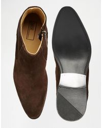 ASOS - Zip Boots In Brown Suede - Lyst