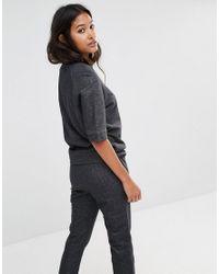 Glamorous - Black Short Sleeve Oversized Sweatshirt - Lyst