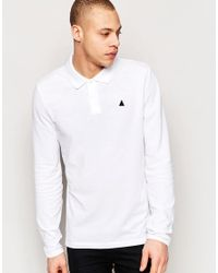 ASOS - Long Sleeve Muscle Pique Polo In White for Men - Lyst