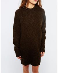 WOOD WOOD Brown Rosa Sweater Dress