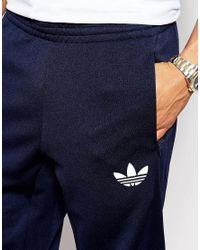 Adidas Originals Blue Skinny Joggers  for men