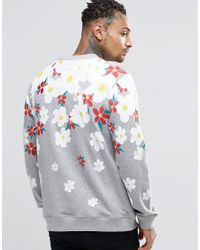 Adidas Originals Gray X Pharrell Daisy Logo Sweatshirt Ao2984 for men