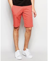 HUGO | Pink By Boss Smart Shorts In Cotton for Men | Lyst