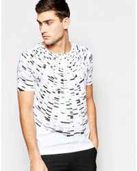 HUGO - By Boss T-shirt With Circular Print In White for Men - Lyst