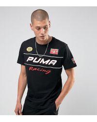 PUMA Black Moto Racing Print T-shirt Exclusive To Asos for men