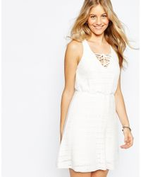 ASOS | White Sun Dress In Lace Stitch | Lyst