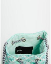 ASOS - Green Beaded Tassel Cross Body Bag - Lyst