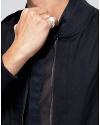 ASOS - Metallic Pinky Coil Ring In Silver - Silver for Men - Lyst