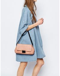 ASOS - Pink Shoulder Bag With Coated Chain - Lyst