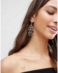 Ashiana - Metallic Chandelier Drop Earrings - Gold/black - Lyst