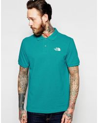 The North Face - Green Polo Shirt With Logo for Men - Lyst