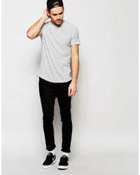 Esprit - Gray Fine Stripe T-shirt for Men - Lyst