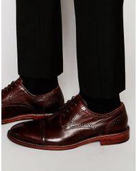 ALDO - Brown Ldo Rodallo Leather Brogue Derby Shoes for Men - Lyst