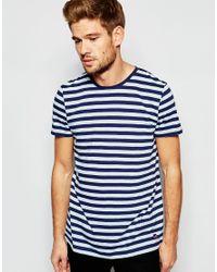 Esprit - Blue Stripe T-shirt for Men - Lyst