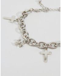 ASOS | Metallic Cross Charm Bracelet | Lyst