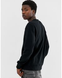 Huf Black Original Logo Sweatshirt for men