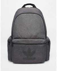 Adidas Originals Black Backpack In Faux Croc