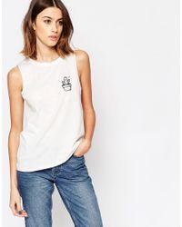 Vero Moda White Cactus Logo Top