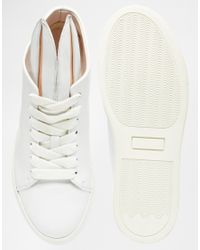 Minna Parikka Orange White Leather Bunny Ears High Top Sneakers