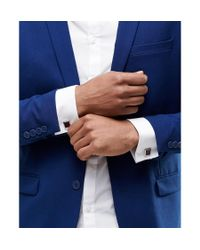 ASOS Multicolor Square Cufflinks With Burgundy for men