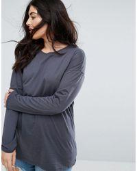 ASOS Gray Oversized Longline T-shirt