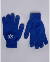 Gants de sport Umbro pour homme en coloris Blue