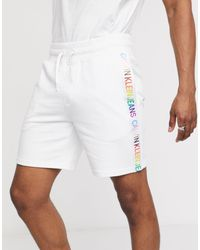 Белые Трикотажные Шорты С Радужной Лентой Pride-белый Calvin Klein для него, цвет: White