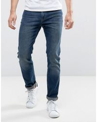 Lee Jeans - Rider Slim Jeans Dark Blue Over Dye for Men - Lyst
