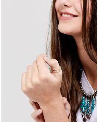 ASOS - Metallic Feather Detail Thumb Ring - Lyst