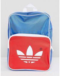 004f7aaf32 Lyst - adidas Originals Adicolor Retro Backpack In Blue Cw2619 in ...
