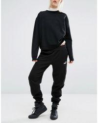 PUMA Black Sweat Pants With Classic Logo