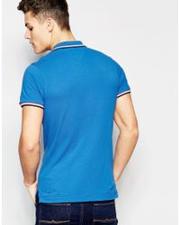 Tommy Hilfiger - Polo With Tipping Blue for Men - Lyst
