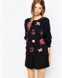 Sportmax Code | Portmax Code Embellished Sweatshirt In Black | Lyst