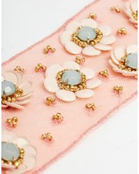 ASOS - Multicolor Sequin Flower Headband - Lyst