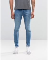 Cheap Monday - Jean Tight Skinny Fit Whispy Blue Wash for Men - Lyst