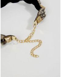 ASOS - Black Pyramid Spike Choker Necklace - Lyst