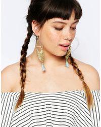 ASOS Blue Festival Tassel Earrings