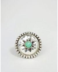 ASOS - Green Stone Burst Ring - Lyst